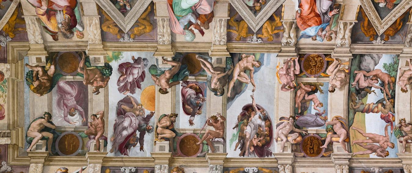 Sistine Chapel Ceiling, Michelangelo's Frescos.