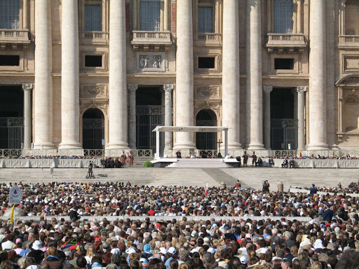 Pope's Audience Hall - Papal Audiences on Wednesday Mornings meeting the Pope